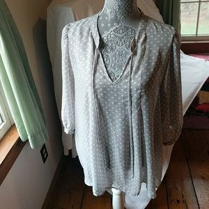 Daniel Rainn Polka Dot Blouse